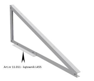 Konstrukcja PV. Art.nr 11.011 - kątownik L455