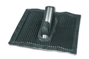 Dachówka aluminiowa 40x50 cm z przejściem dla kabli kolor czarny , Art.nr. 05.112