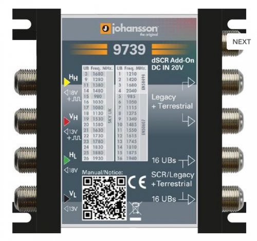 #Multiswitch Unicable 5/2 , 9739 Johansson, #Multiswitch Unicable, #9739 Johansson, #Multiswitch Technologia Jednokablowa